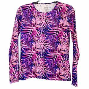 Beach Swim Cover Up Small Pink Purple Floral